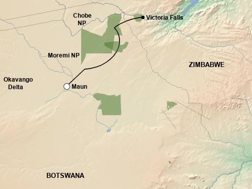 Reiseverlauf Botswana Untouched Lodge Safari