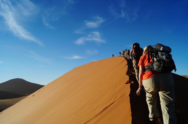 Aktiv & naturnah reisen - Sossusvlei in Namibia
