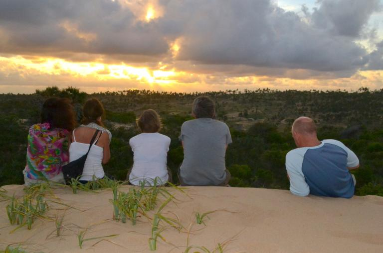 Sonnenuntergang auf Abenteuerreise durch Südafrika, Simbabwe & Mosambik