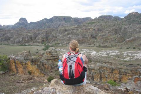 Blick in ein Tal in Madagaskar