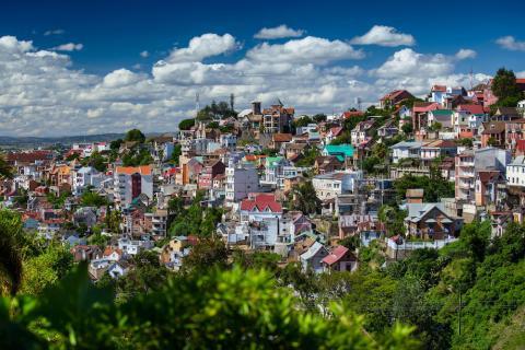 Antananarivo Häuser Panorama