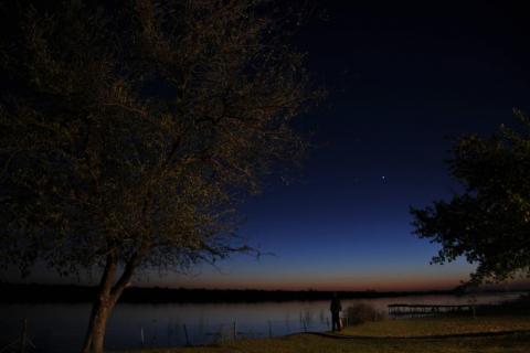 Sternenhimmerl bei Nacht im Safari Camp in Maun