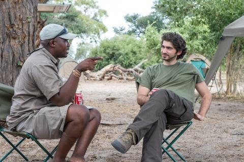 Entspannen im Campsite in Botswana