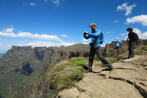 Höhepunkt der Südafrika Wanderreise: Wandertour in der Gruppe durch die Drakensberge