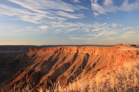 Abendstimmung über dem Fishriver Canyon in Namibia bei Sonnenuntergang