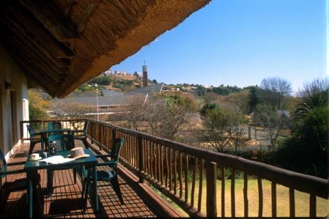 Terasse der Greenfire Johannesburg Lodge