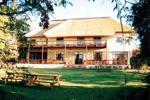 Drifter Greenfire Joahnnesburg Inn: Blick auf das Gästehaus vom Garten aus
