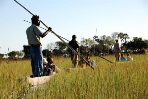 Kanu Tour im Mokorokoro durch das Okavango Delta: Ideal für Tierbeobachtungen - Pirschfahrt im Boot in Botswana