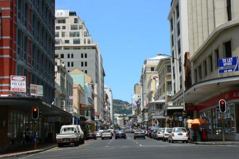 Long Street Kapstadt mit ihren bis zu 300 Jahre alten Gebäuden im victorianischen Stil
