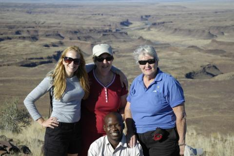 Kiboko Adventure Safaris Reisegruppe am Fish River Canyon Namibia
