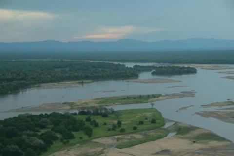 Luangwa Tal aus der Luft