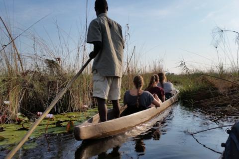 Trip mit dem Mokoro im Okavango Delta