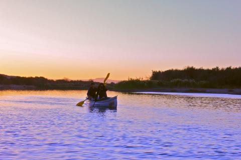 Kanu Fahrt auf dem Orange River