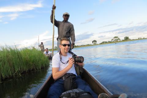 Okavango Delta Botswana - Fahrt mit dem Mokoro