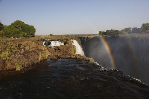 Viktoriafälle von Simbabwe aus gesehen