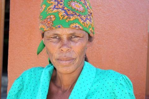 Einheimische Frau in Namibia