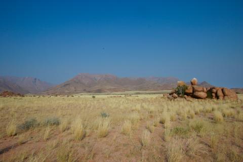 Brandberg Massiv in Namibia auf dem Weg Richtung Botswana