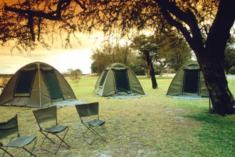 Canvas Zelte von Drifters Adventours während einer Safari Tour