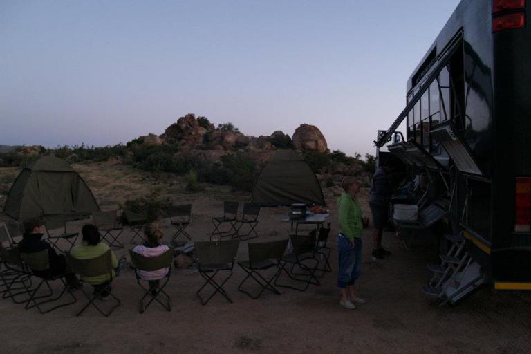 Camping Safari in der Namib Wüste Namibia