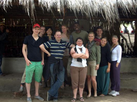 Besuch einer Dorfs in Malawi