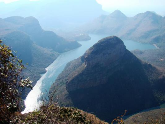 Panorame des Blyde River Canyon: größter bewachsener Canyon der Welt