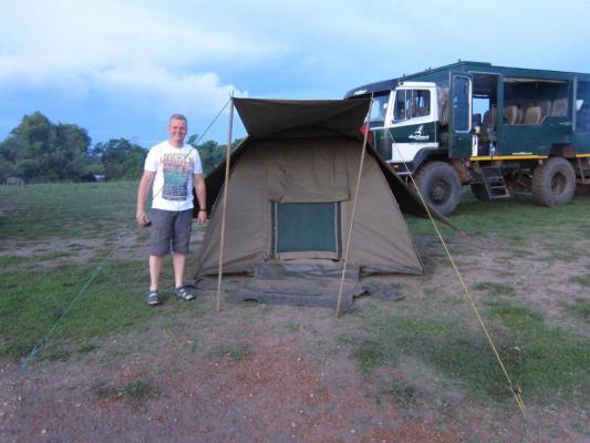 Camping übernachtung mit Drifters Adventure Tours im Lake Mburo National Park mit seiner riesigen Artenvielfalt