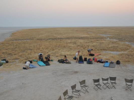 Camping Übernachtung  in den Makgadikgadi-Salzpfannen