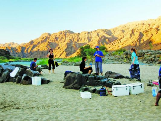 Camping Übernachtung am Orange River