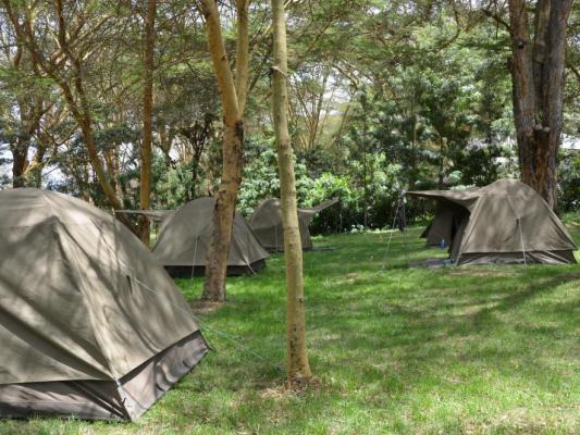 Typische Campingübernachtung mit Drifters Tours in Tansania