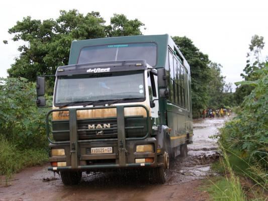 Drifters Safari Expeditions Truck auf Camping Safari in Ostafrika