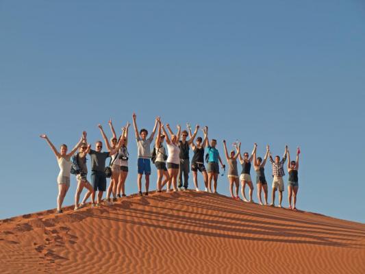 Action und Adventure auf den Dünen im Sossusvlei in Namibia