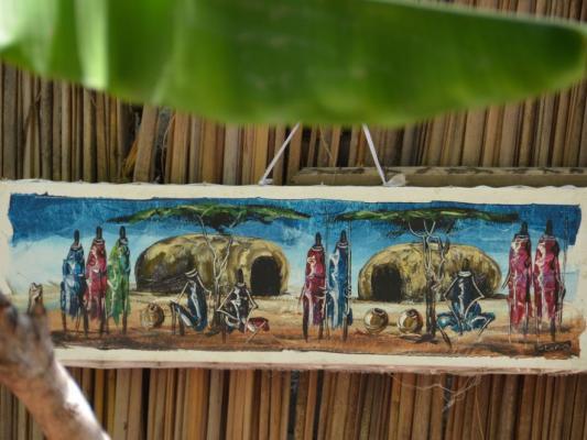 Lokale Massai Kunst