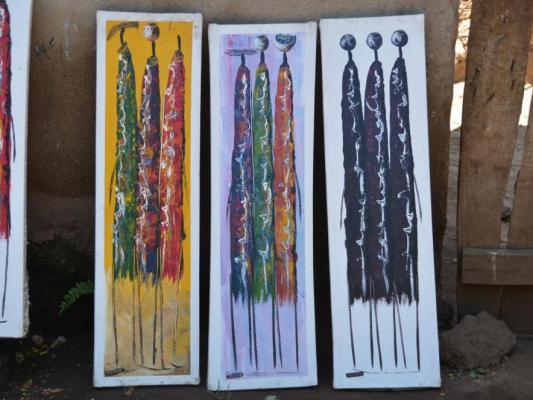Kunst der Einheimschen Massai