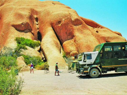 Drifters Safari Camp in der Namib Wüste