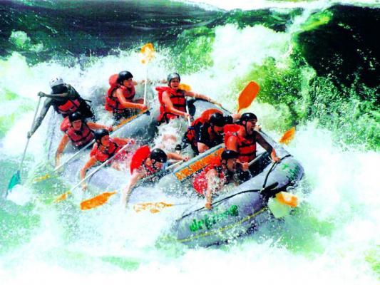Rafting auf dem Zambezi River