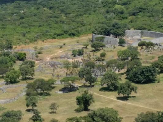 Ruinen von Great Zimbabwe aus der Luft