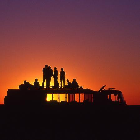 Botswana-Zimbabwe Adventure  geführte Campingreise ab/bis Johannesburg Sonnenuntergang über dem Okavango Delta