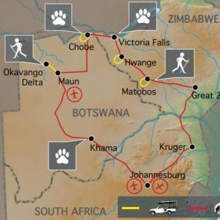 Reiseverlauf Südafrika