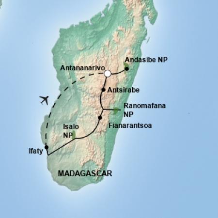 Reiseverlauf 1000 Views of Madagascar