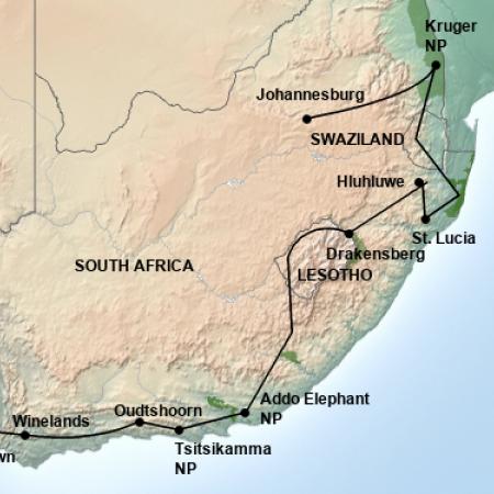 Reiseverlauf Südafrika Lesotho Reise