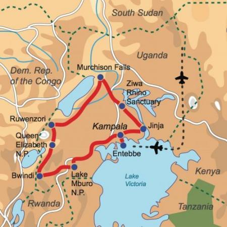 Karte & Reiseverlauf Explorer Safari